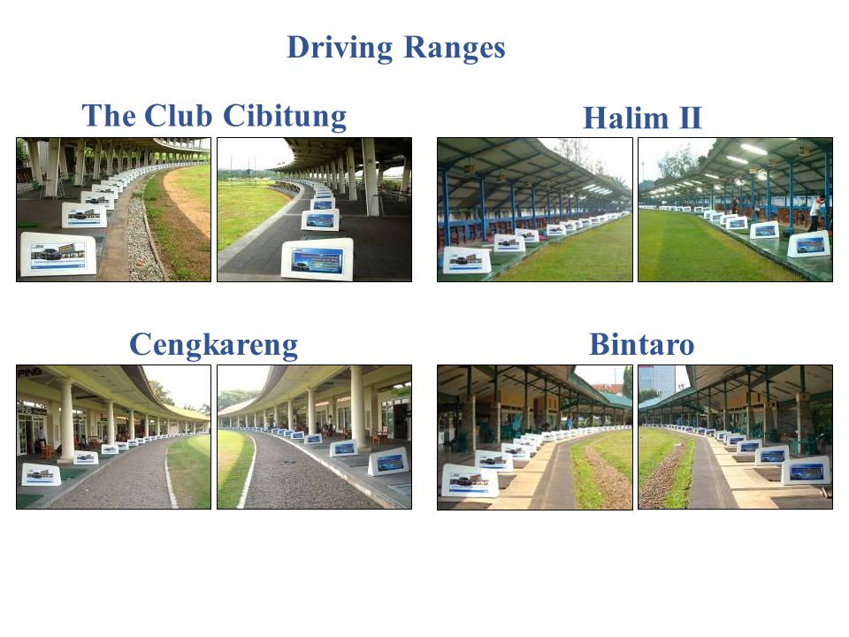 Driving Ranges The Club Cibitung Halim II Cengkareng Bintaro