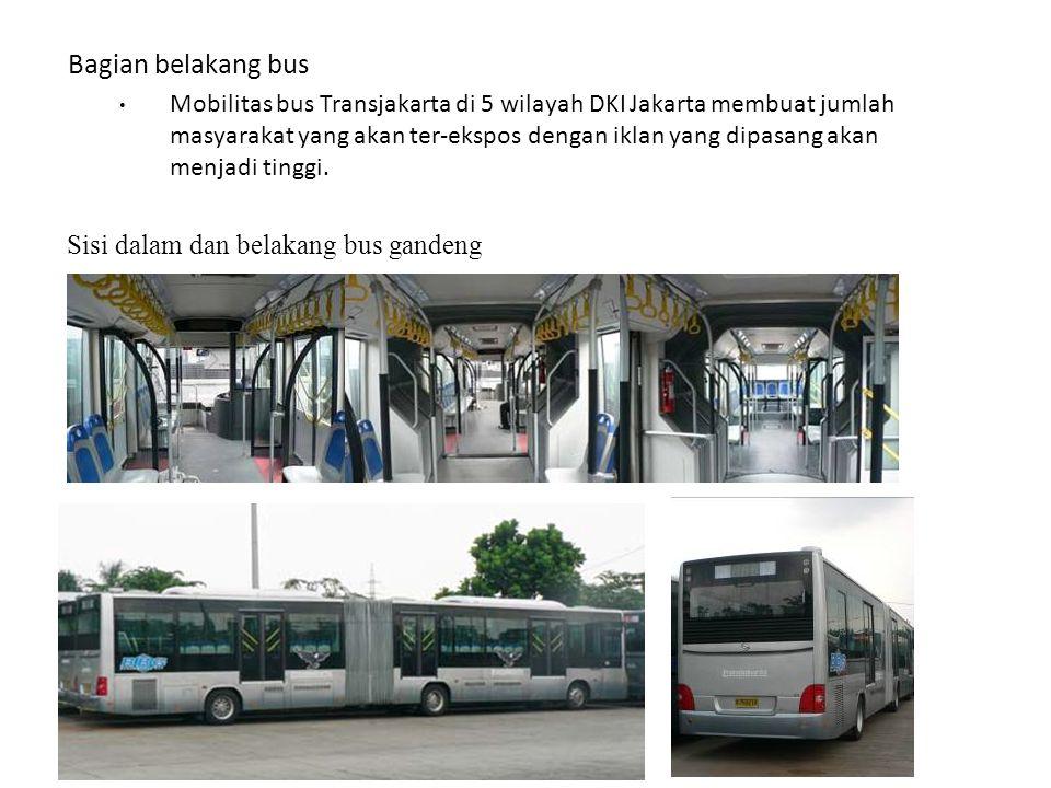 Sisi dalam dan belakang bus gandeng