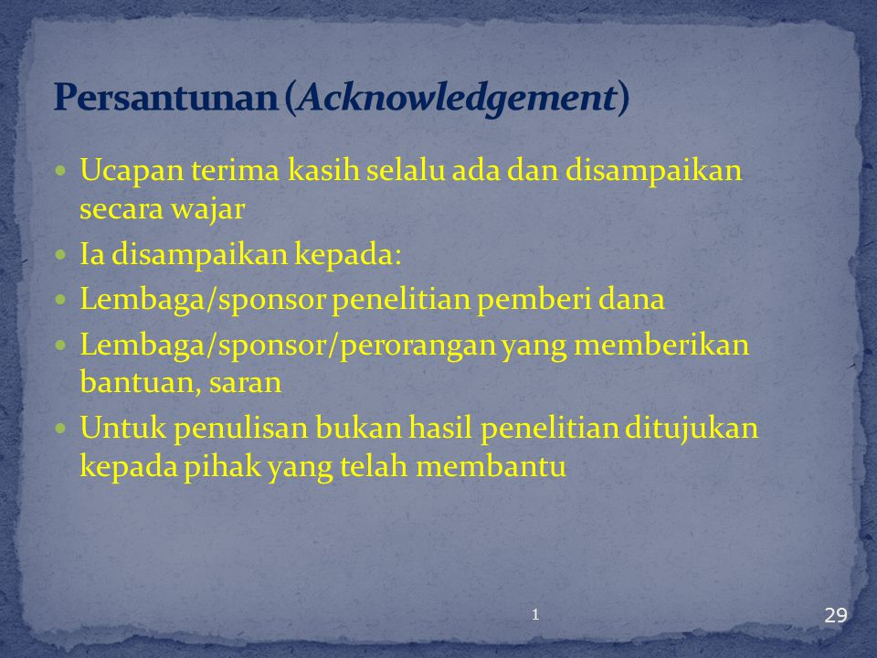 Persantunan (Acknowledgement)