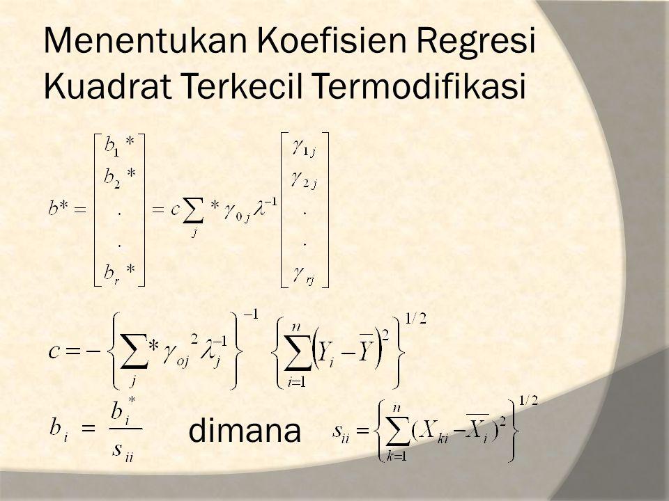 Menentukan Koefisien Regresi Kuadrat Terkecil Termodifikasi
