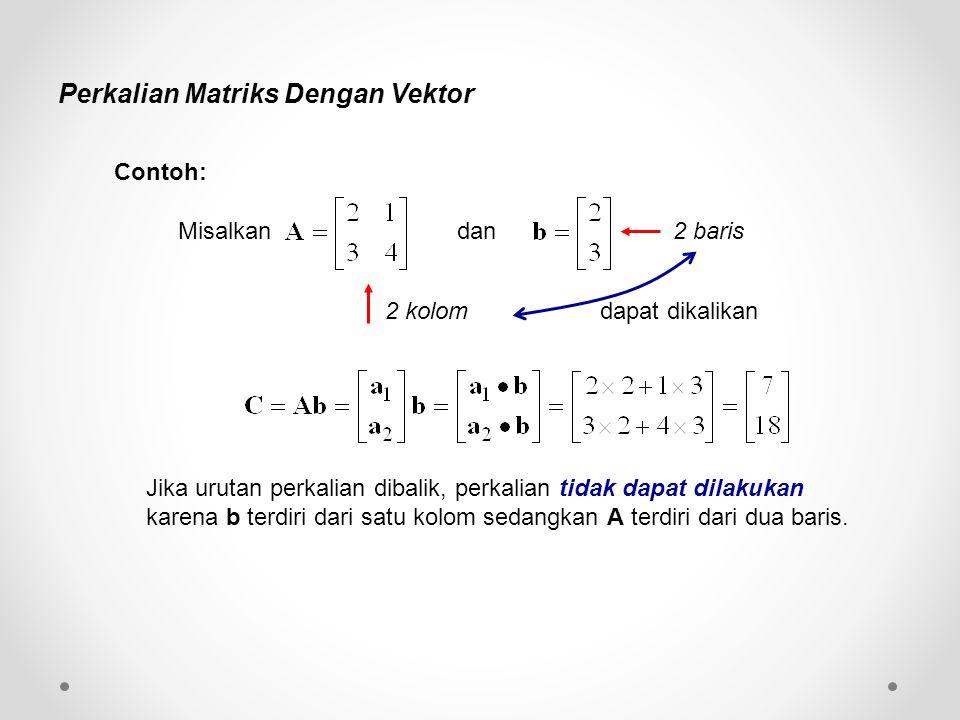 Perkalian Matriks Dengan Vektor