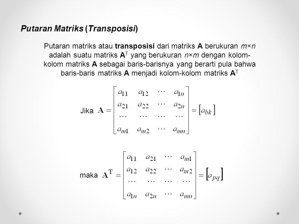 Putaran Matriks (Transposisi)