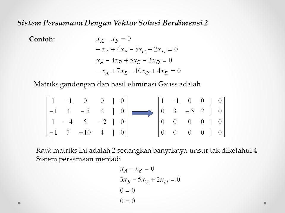 Sistem Persamaan Dengan Vektor Solusi Berdimensi 2