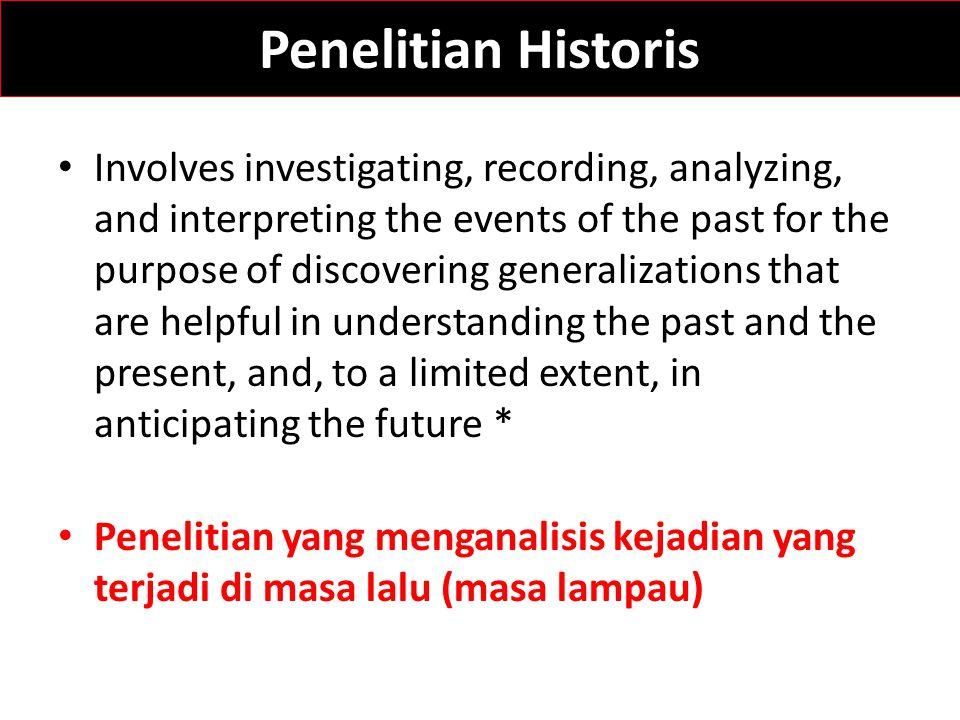Penelitian Historis