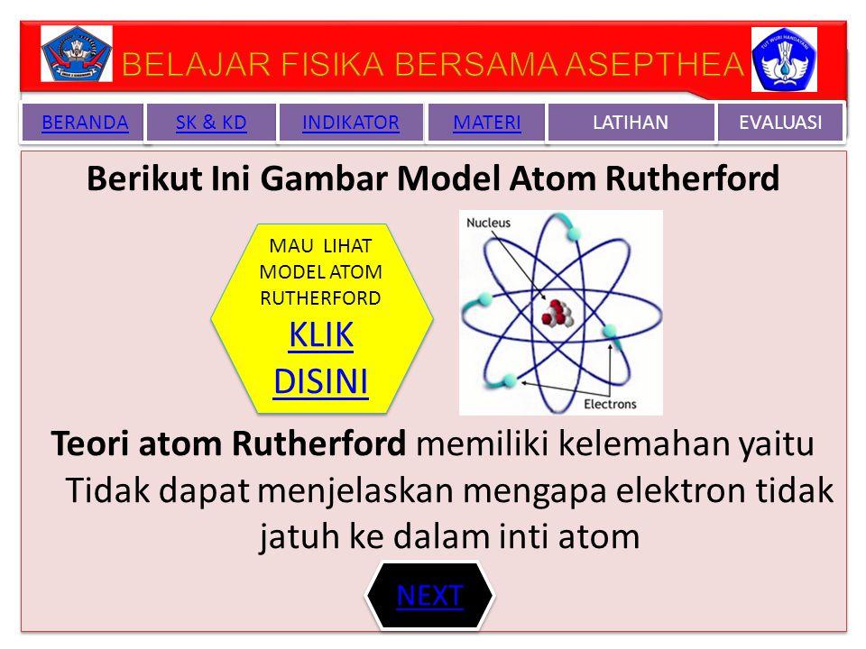 Berikut Ini Gambar Model Atom Rutherford