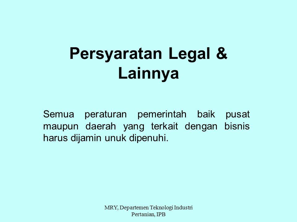 Persyaratan Legal & Lainnya