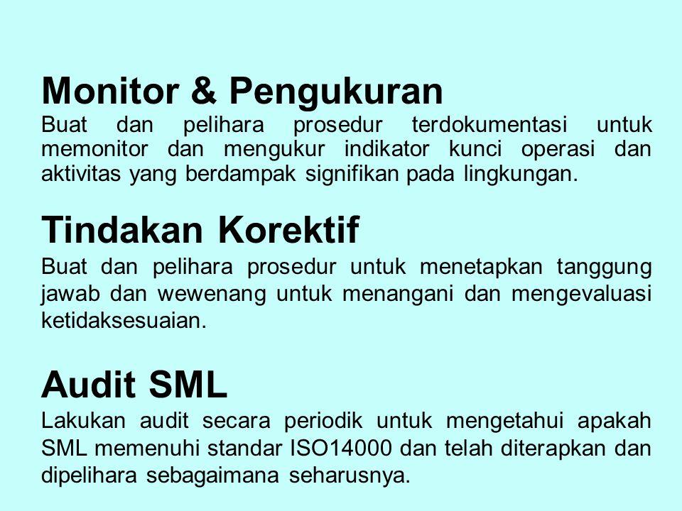 Monitor & Pengukuran Tindakan Korektif Audit SML