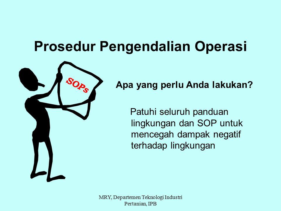 Prosedur Pengendalian Operasi