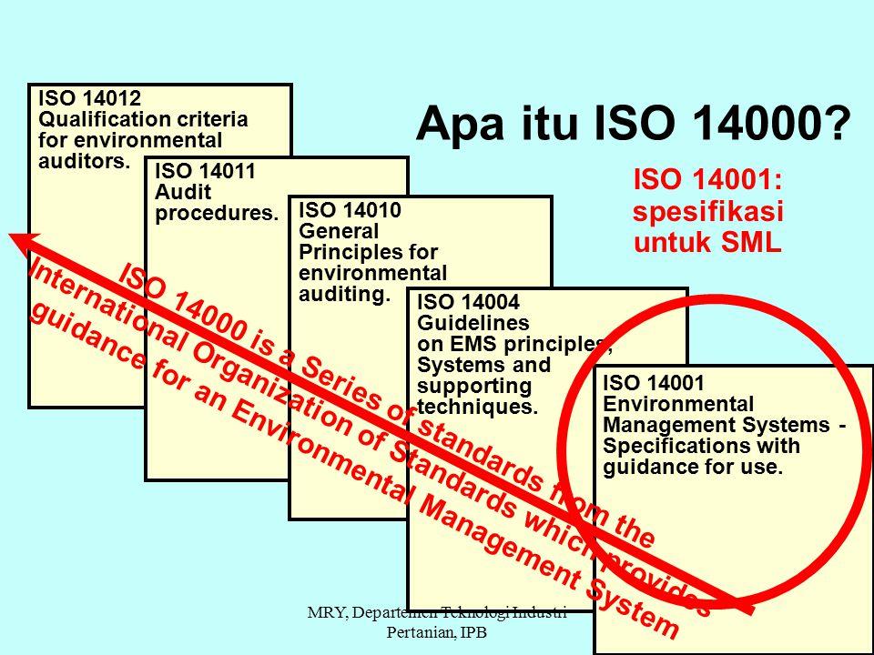 Apa itu ISO 14000 ISO 14001: spesifikasi untuk SML
