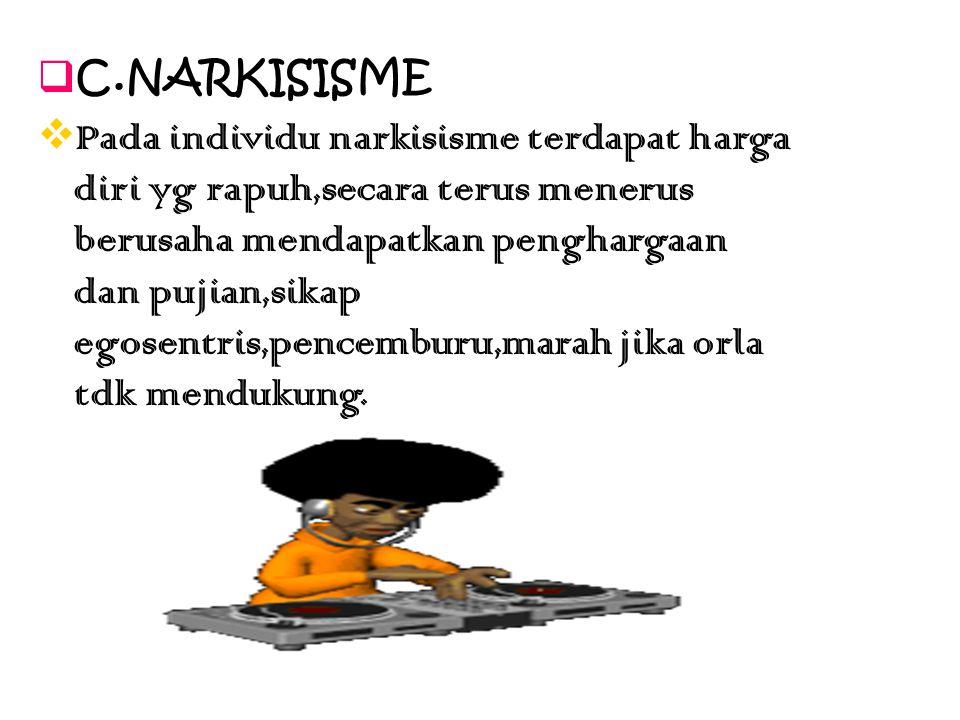 C.NARKISISME