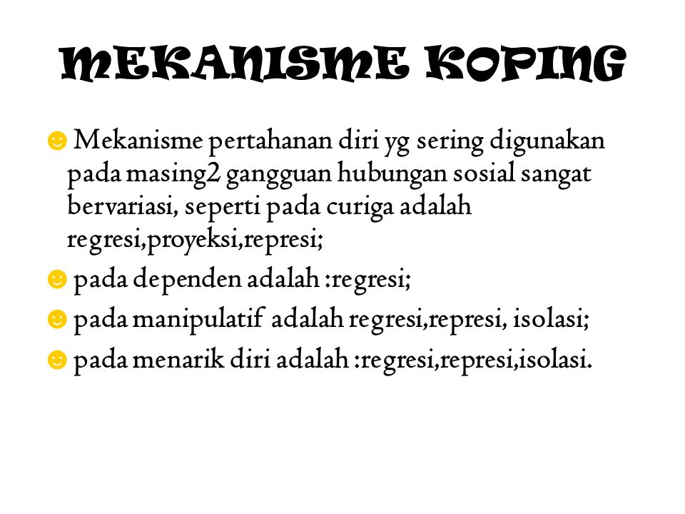 MEKANISME KOPING