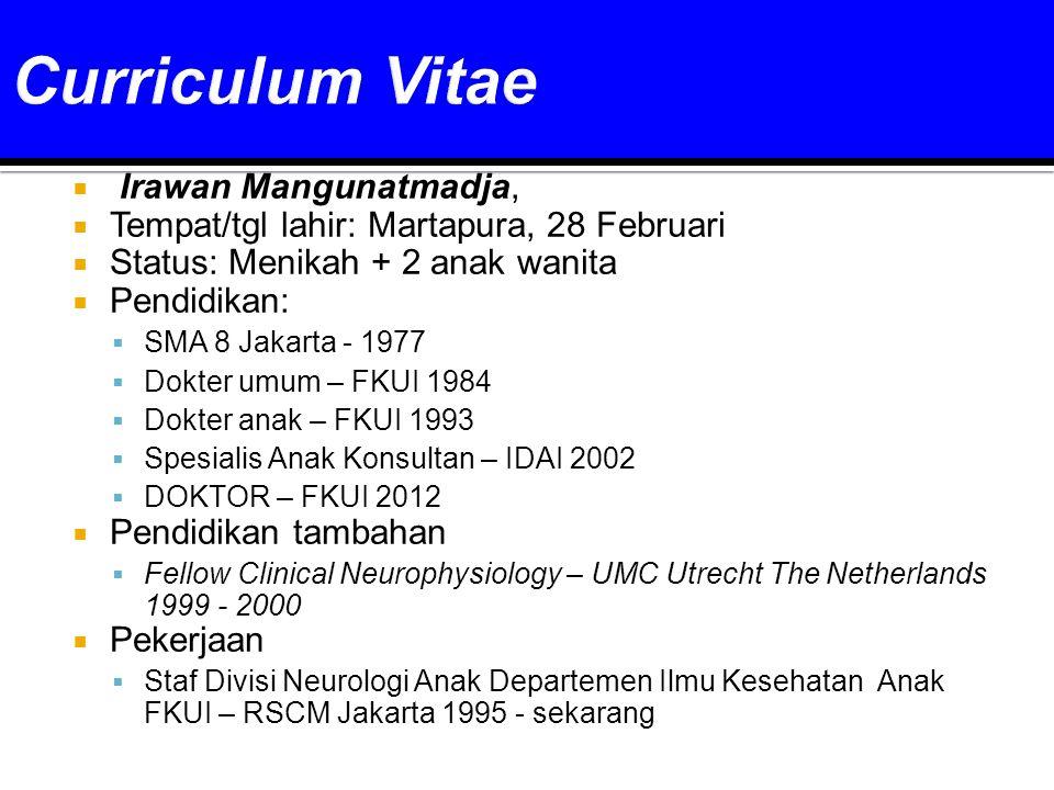 Curriculum Vitae Irawan Mangunatmadja,