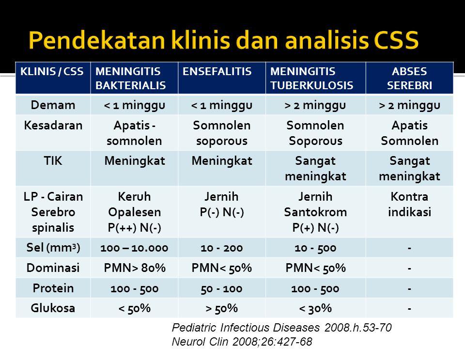 Pendekatan klinis dan analisis CSS