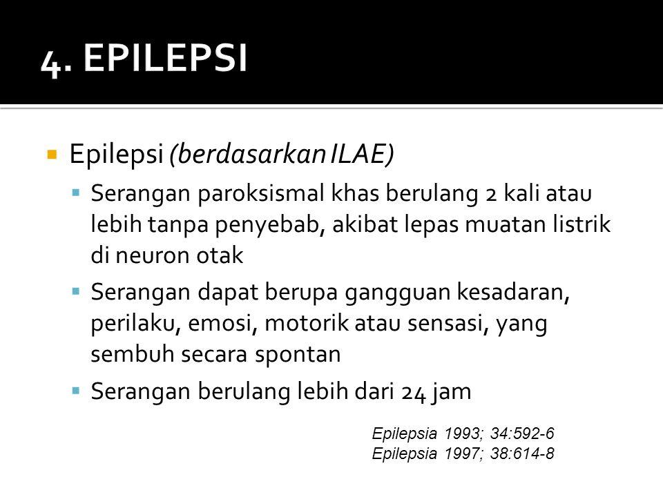 4. EPILEPSI Epilepsi (berdasarkan ILAE)