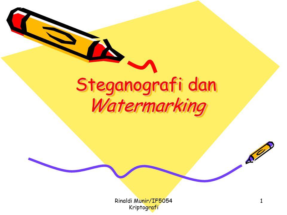 Steganografi dan Watermarking