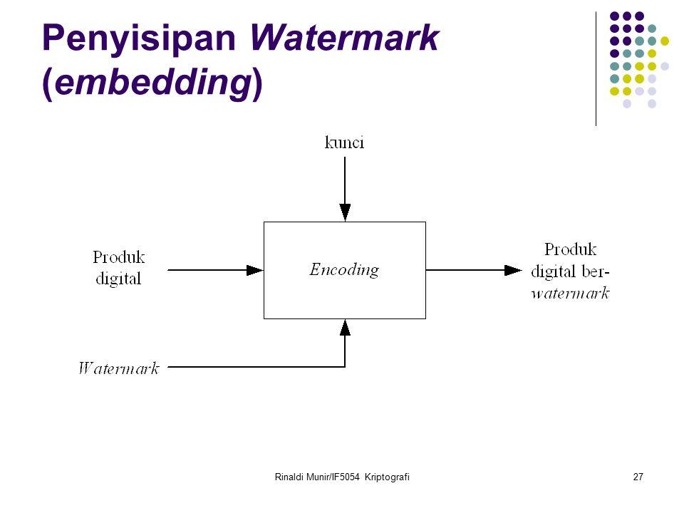 Penyisipan Watermark (embedding)