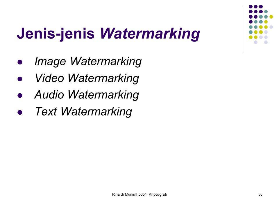Jenis-jenis Watermarking