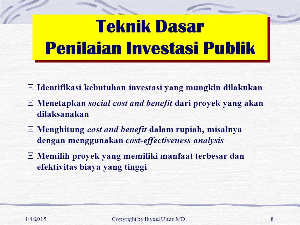 Teknik Dasar Penilaian Investasi Publik