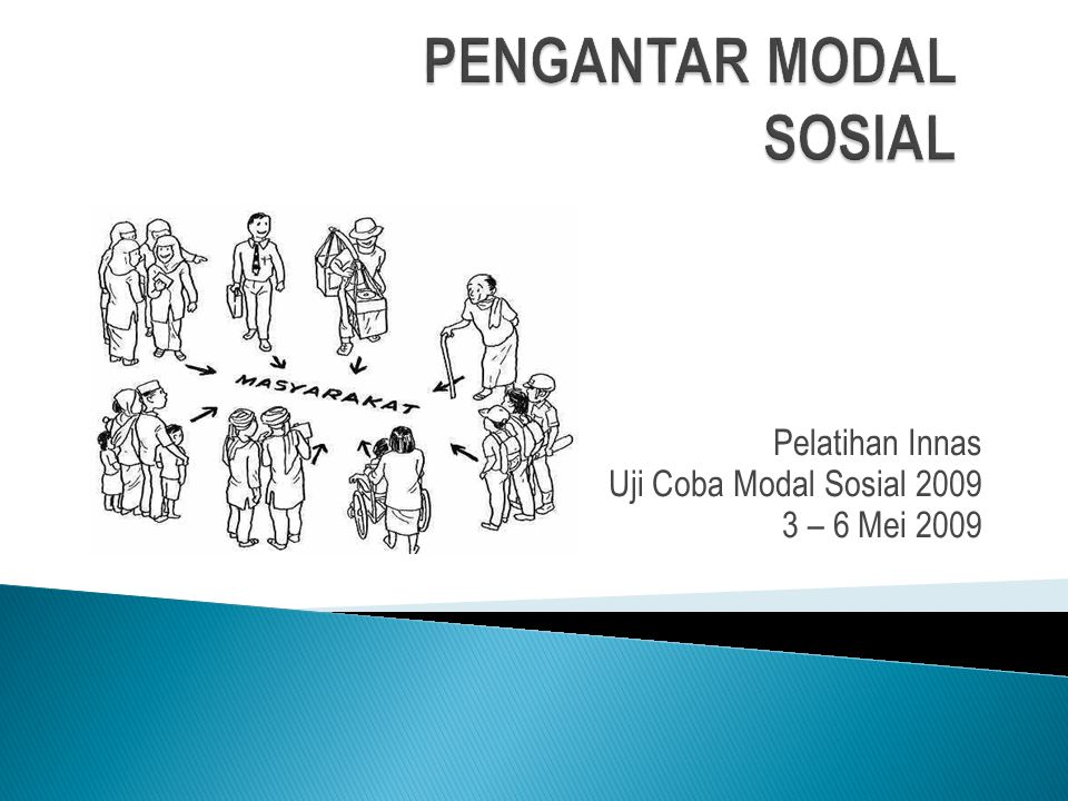 PENGANTAR MODAL SOSIAL