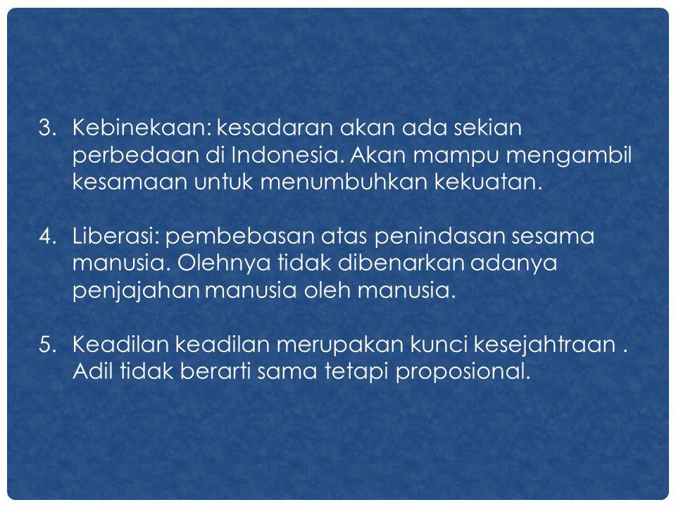 Kebinekaan: kesadaran akan ada sekian perbedaan di Indonesia