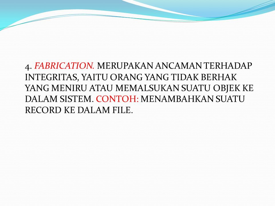 4. FABRICATION.