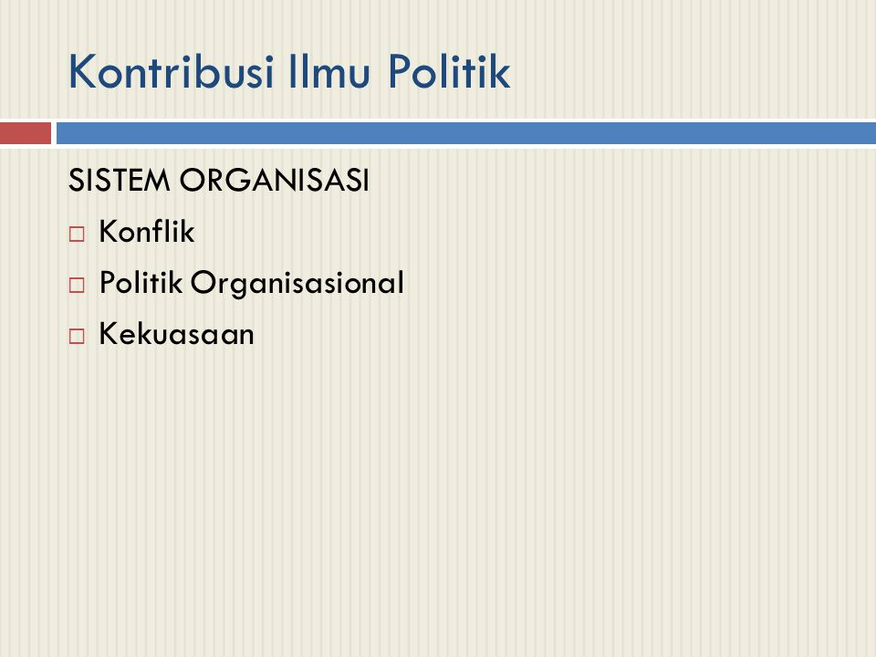 Kontribusi Ilmu Politik