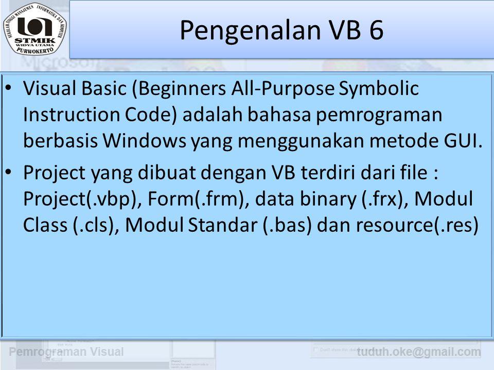 Pengenalan VB 6