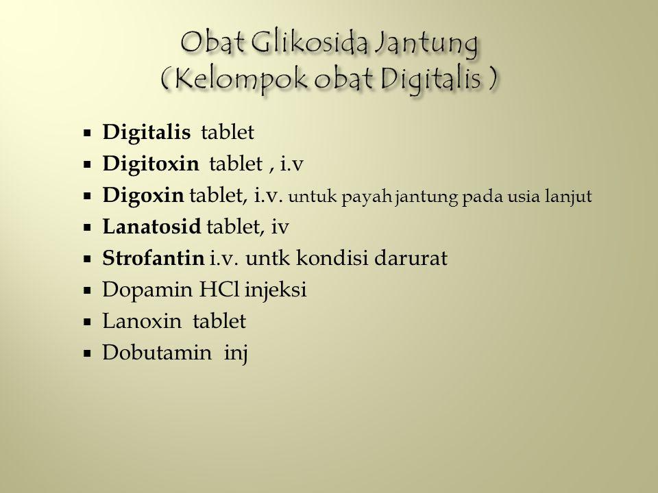 Obat Glikosida Jantung (Kelompok obat Digitalis )