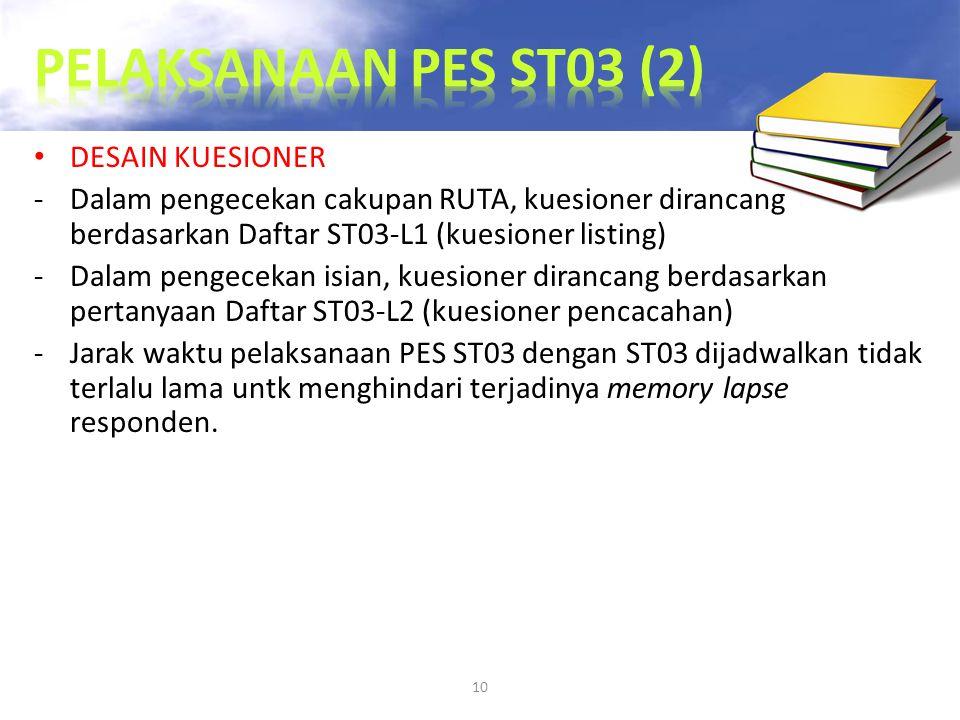 PELAKSANAAN PES ST03 (2) DESAIN KUESIONER