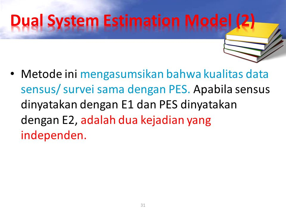 Dual System Estimation Model (2)