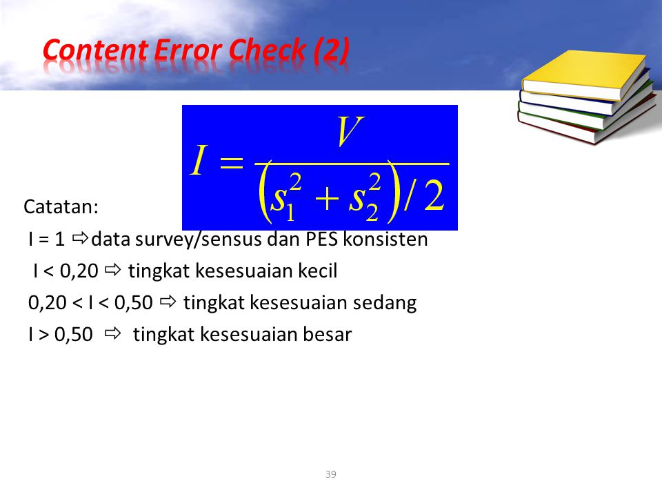 Content Error Check (2) Catatan:
