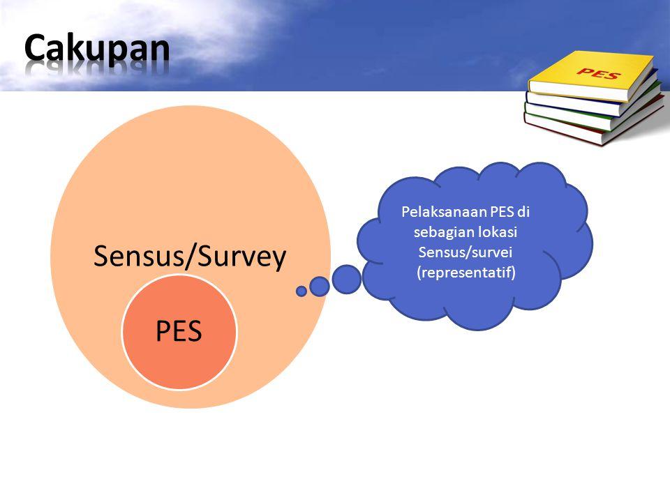 Pelaksanaan PES di sebagian lokasi Sensus/survei (representatif)