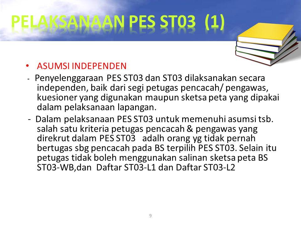 PELAKSANAAN PES ST03 (1) ASUMSI INDEPENDEN