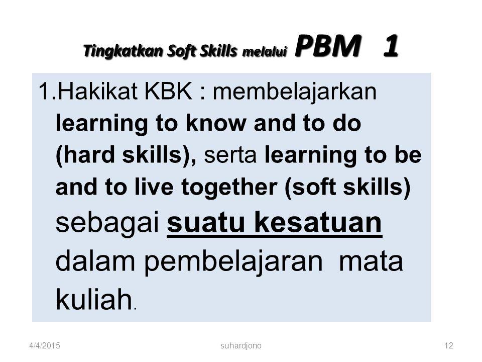 Tingkatkan Soft Skills melalui PBM 1