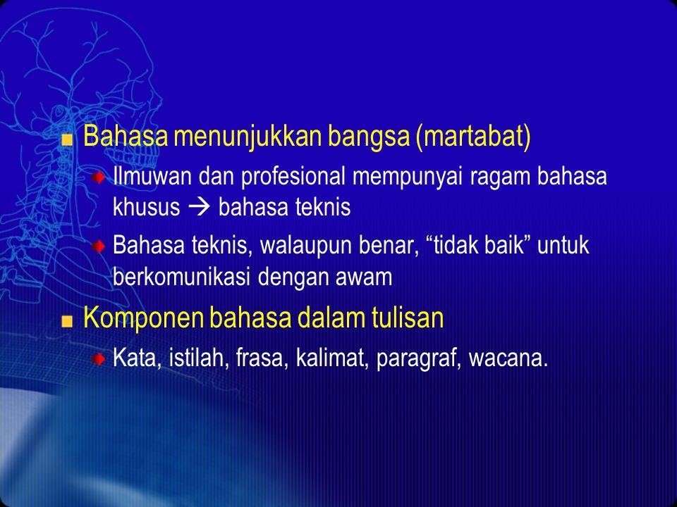 Bahasa menunjukkan bangsa (martabat)