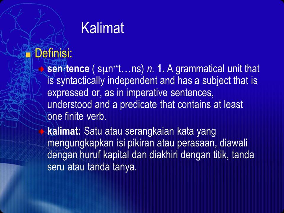 Kalimat Definisi: