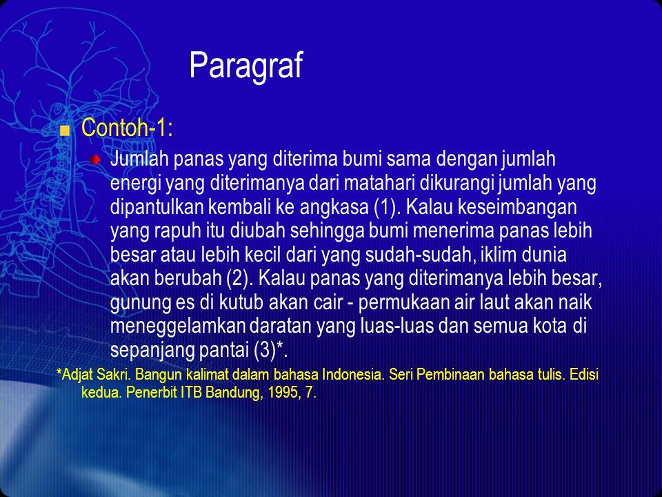 Paragraf Contoh-1: