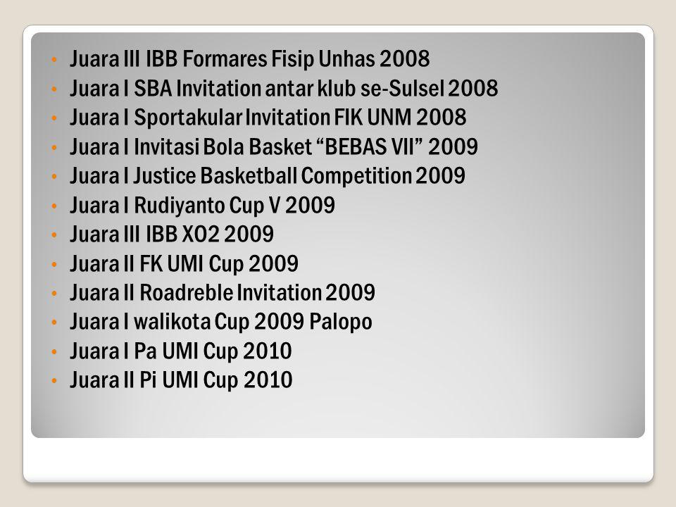 Juara III IBB Formares Fisip Unhas 2008