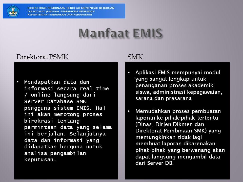Manfaat EMIS Direktorat PSMK SMK