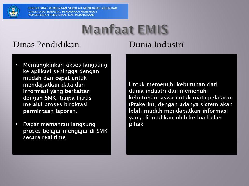 Manfaat EMIS Dinas Pendidikan Dunia Industri