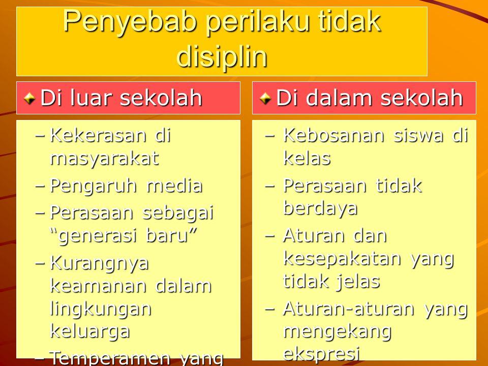Penyebab perilaku tidak disiplin