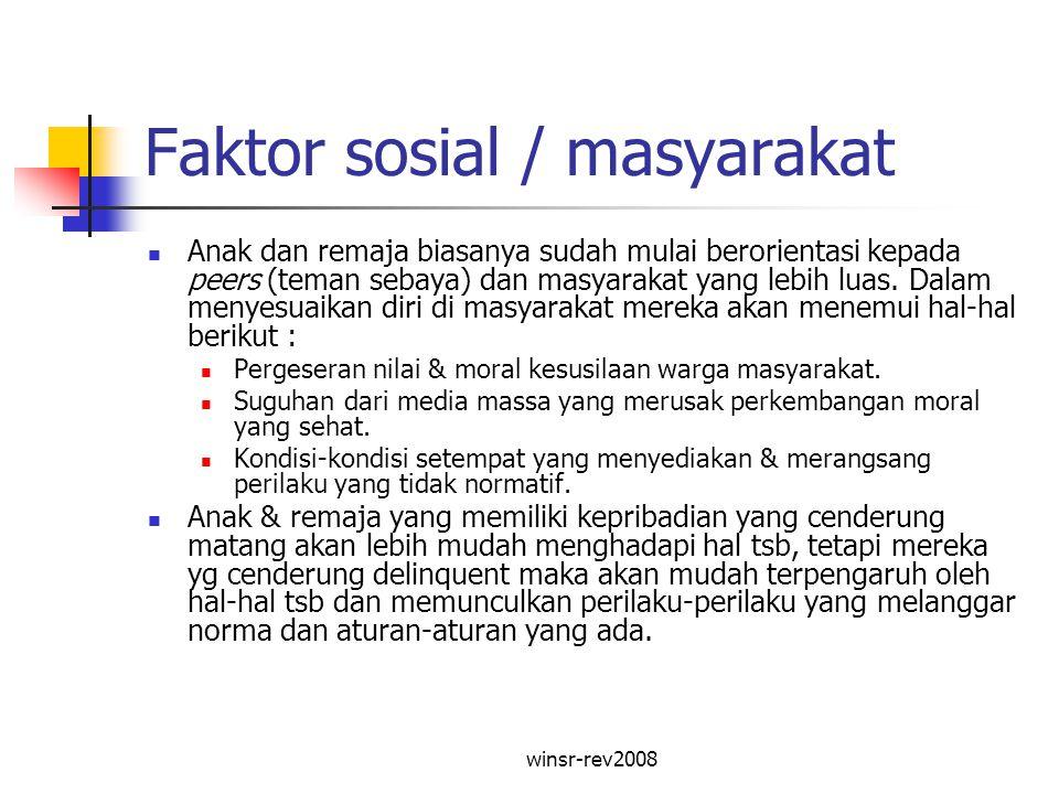 Faktor sosial / masyarakat