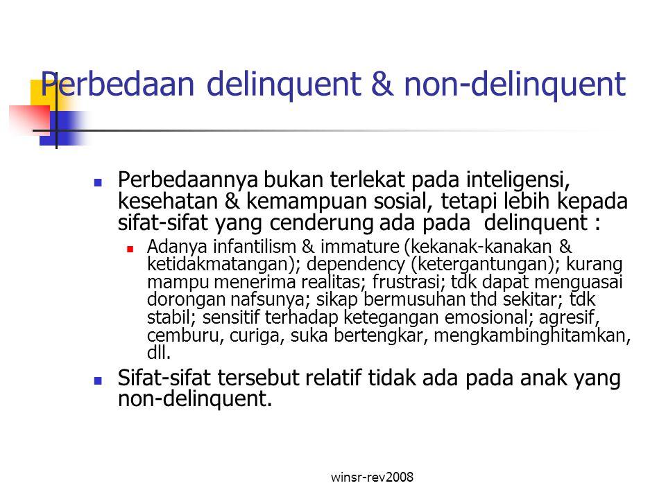 Perbedaan delinquent & non-delinquent
