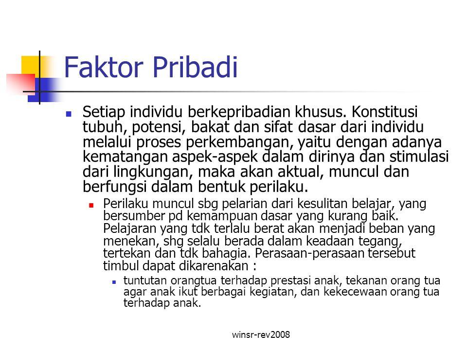 Faktor Pribadi