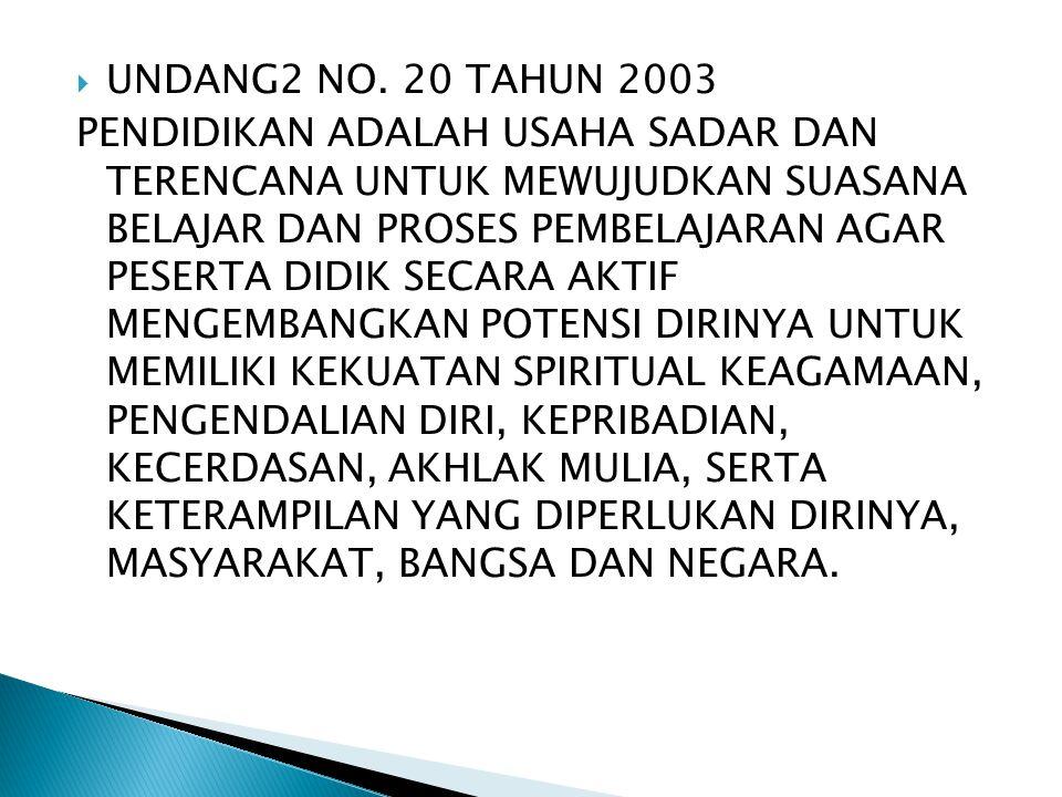 UNDANG2 NO. 20 TAHUN 2003