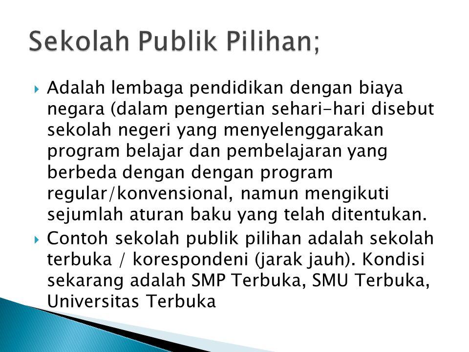 Sekolah Publik Pilihan;