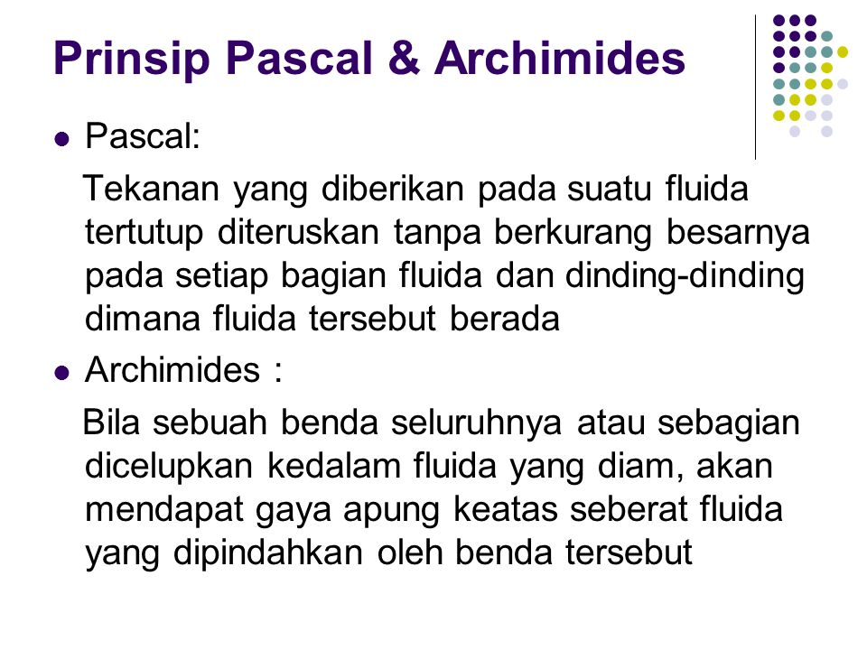 Prinsip Pascal & Archimides