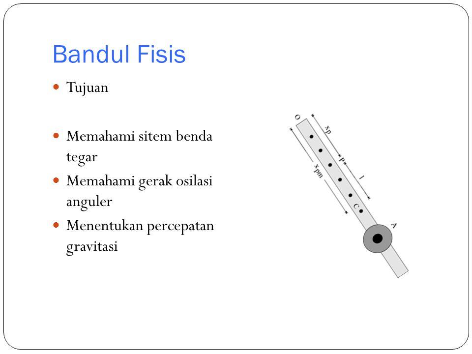 Bandul Fisis Tujuan Memahami sitem benda tegar