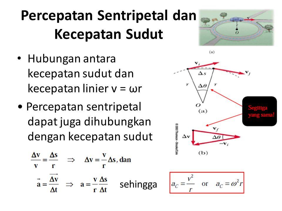 Percepatan Sentripetal dan Kecepatan Sudut