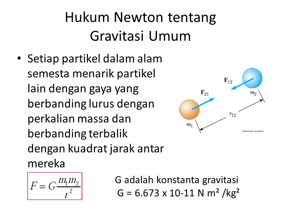 Hukum Newton tentang Gravitasi Umum